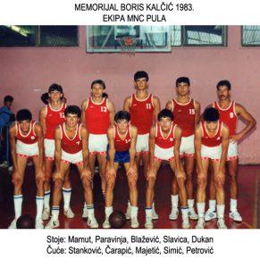 Ekipa MNC Pula - Memorijal Boris Kalčić 1983.